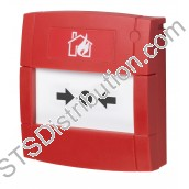 MCP1A-R470FG-01 KAC Red Call Point, 470Ω Resistor, Break Glass Element, Flush
