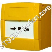 MCP3A-Y000SG-STCK-11 KAC Yellow Call Point, NO/NC, Break Glass Element, Surface, NO FUNCTION MARKING