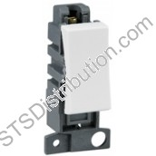 MD002PW Polar White 10AX 2 Way Switch Minigrid Module