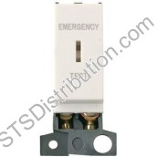 MD029PW Polar White 10AX DP Keyswitch 'Emergency Test' Minigrid Module
