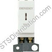 MD029WH Click White 10AX DP Keyswitch 'Emergency Test' Minigrid Module