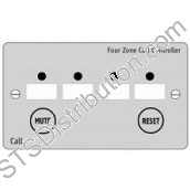 NC944/SS 800 Series 4 Zone Call Controller c/w Mute & Reset Button, Stainless Steel - requires 12V PSU