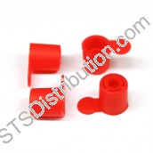 PECR	Pin End Caps, Red