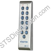 PROFIL100EC CDVI Vandal Resistant Narrow Keypad with Remote Electronics, 100 Users, Backlit, 2 Relays, Surface