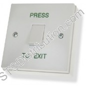 CDVI Standard Exit Button, Plastic, Surface