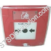 S4-34842 Vigilon Manual Call Point with Glass Element & Protective Cover - requires back box