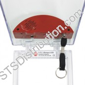 STI6532 STI Red Call Point Stopper for Flush Call Points c/w Integral Sounder