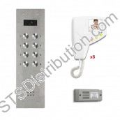 BS8/VR Bell System - 8 Way Flush Bellissimo Vandal Resistant Video Kit