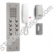 CS109-8/VR BELL - 08 button flush audio entry kit, VR panel, + keypad