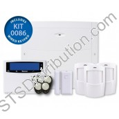KIT-0086	Ricochet 64 Zone Wireless Kit - 64-W Panel, LCDL-P, 3 x PW-W, 1 x Micro Contact-W, 5 x Prox Tags