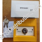 WY9103/SY KAC 3-Position Keyswitch, Yellow, NO FUNCTION MARKING